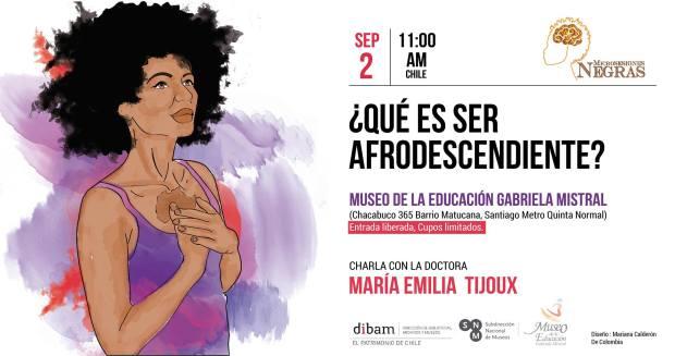 Maria Emilia Tijoux evento Que es ser afrodescendiente